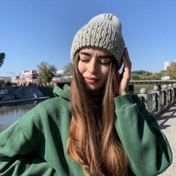 Женская шапка Odyssey Зимняя Светло Серый (34191)