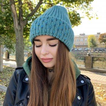 Женская шапка Odyssey Зимняя Изумрудный (34191)
