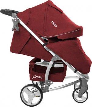 Прогулочная коляска Carrello Vista CRL-8505 Ruby Red Лен (153630)
