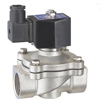 """Клапан електромагнітний нормально-закритий Round Star RSP-40J 1,1/2"""" непрямої дії з нержавіючої сталі 316L"""