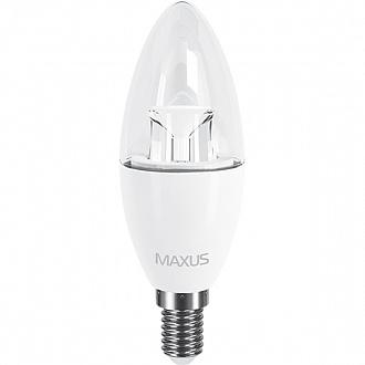 Лампа Maxus LED C37 CL-C 6 Вт E14 4100K холодне світло (NL30514876)