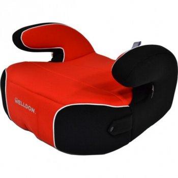 Бустер автомобільний Welldon Penguin Pad PG08 Червоний-Чорний автокрісло 3 групи для дітей від 6 до 12 років (22-36 кг) у будь-який автомобіль з підлокітниками і підсклянником (PG08-P02-003)