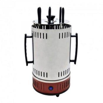 Шашличниця электрошашлычница на 6 шампурів 1000 Вт Domotec MS-7783