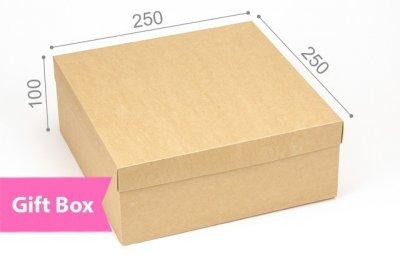 """Коробка. Модель №0069 """"ГифтБокс"""". Крафт 250*250*100 мм"""