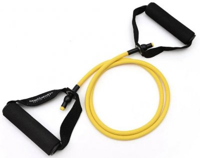 Гумовий трубчастий еспандер Onhillsport з ручками 5 кг Жовтий (TR-5)