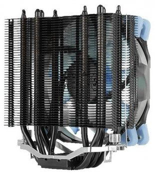Кулер процессорный Aerocool Verkho 4 Dark, Intel:2066/2011/1156/1155/1151/1150/775, AMD:AM4/AM3+/AM3/AM2+/AM2/FM2/FM1, 156.5x123x73, 4-pin