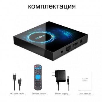 Смарт ТВ приставка T95 H616 4/64 GB + пульт Air Mouse G10S Pro c гироскопом и микрофоном + Настройка в подарок Android TV