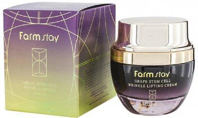 Крем для лица FarmStay Grape Stem Cell Wrinkle Lifting Cream с фитостволовыми клетками винограда 50 мл (8809317284934)