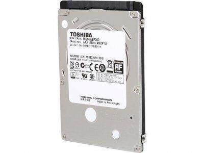 HDD Toshiba TOSHIBA 500GB 5.4 K 3G 2.5 INCH SATA HDD (MQ01ABD050) Refurbished
