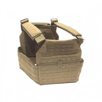 Плитоноска бронежилет чехол Battle Steel Plate Carrier w/Removable Cummerbund Coyote Tan