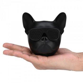 Блютуз колонка Aerobull DOG Head Mini Speakerphone Радіо Black (412 V)