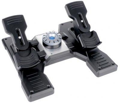 Педали управления Logitech G Saitek Pro Flight Rudder Pedals PC Black (945-000005)
