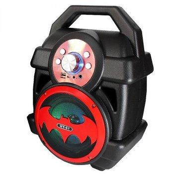 Колонка VeLs Бетмен портативна акустична Bluetooth, Чорно-червоний