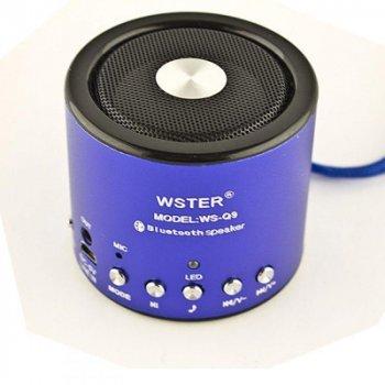 Портативна Bluetooth колонка Bluetooth Wester WS-Q9 FM Blue (2_000624)