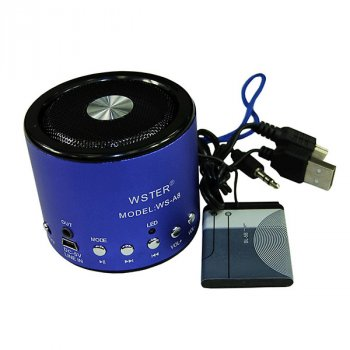 Портативна акустична система Wester WS-A8 Радіо MP3 Blue (2_000370)