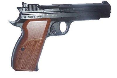 Пистолет пневматический SAS P 210 Blowback черный