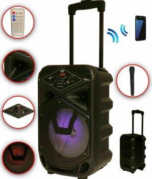 Акустическая система DMS K8-8G Bluetooth, USB, MP3, Wireless LED