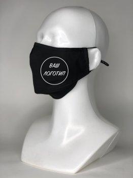 Защитная маска для лица Prof Kit с угольным фильтром (4 фильтра в комплекте) с нанесением логотипа Черная M