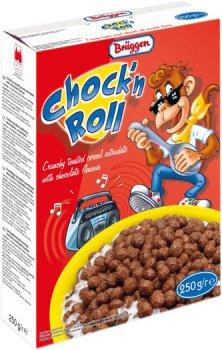 Поджареные кукукурузные шарики Bruggen Chock'n Roll с шоколадом 250 г (4008713700404)