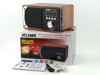 Колонка портативная FM акустическая Atlanfa AT-1822BT 6W с функцией Power Bank