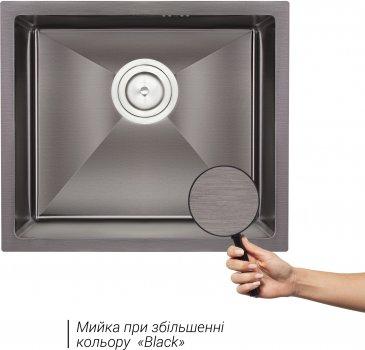 Кухонная мойка QTAP D4843BL 2.7/1.0 мм (QTD4843BLPVD2710)