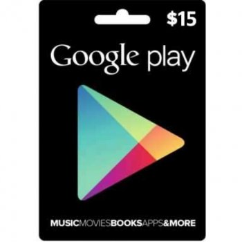 Електронний ключ Гугл Плей / Google Play Gift Card поповнення гаманця (рахунки) свого аккаунта на суму 15 usd, US-регіон