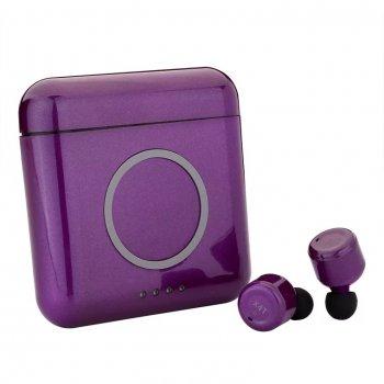 Беспроводные Bluetooth наушники TWS + powerbank X4T фиолетовый (FW018)