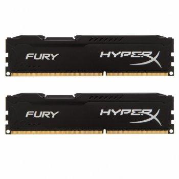 Модуль памьяті для комп'ютера DDR3 8Gb (2x4GB) 1600 MHz HyperX Black Fury Kingston (HX316C10FBK2/8)