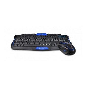 Клавиатура плюс мышь беспроводной комплект HAVIT HV-KB559GCM USB black blue (24333)