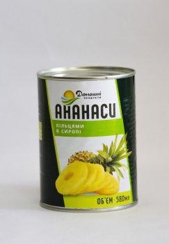 Ананаси Домашні продукти 580мл кільцями