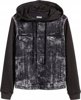 Джинсовая куртка H&M 4476695 Черная