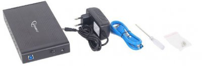 "Внешний карман Gembird для 3.5"" SATA USB 3.0 Black (EE3-U3S-3)"
