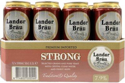 Упаковка пива Landerbrau Strong светлое фильтрованное 7.9% 0.5 л х 12 шт (8714800032544)