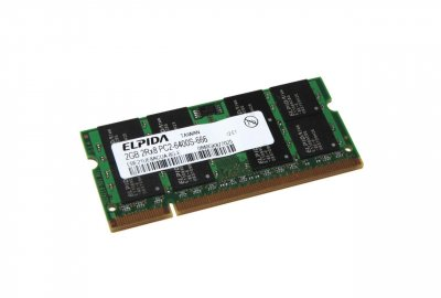 Память Elpida SO-DIMM 2Gb DDR2 (EBE21UE8ACUA-8G-E)