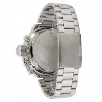 Водонепроницаемые наручные часы AMST Metall Silver-Green Original (MG050)
