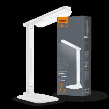 Світильник настільний Videx LED А+ 168х120х345 мм 7W 30005500k 300 Lm 220V (VL-TF02W)
