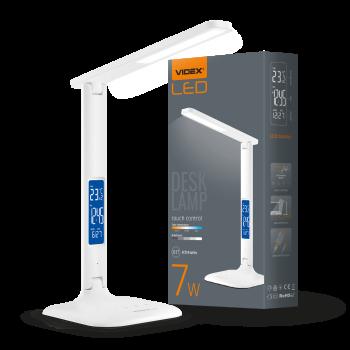 Світильник настільний Videx LED з індикацією А+ 150х150х340 мм 7W 30005500k 300 Lm 220V (VL-TF05W)