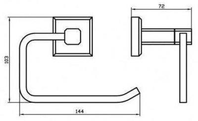 Тримач для туалетного паперу AQUA RODOS Leonardo 9916 чорний матовий
