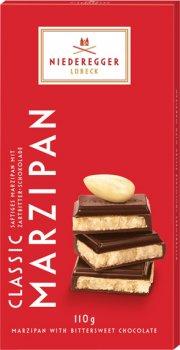 Шоколад Niederegger Марципан 50% в чорному шоколаді 110 г (4000161060116)