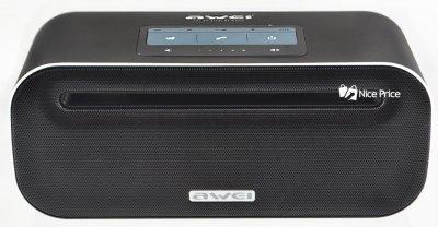 Портативна сенсорна Bluetooth колонка AG Awei Y600 (Bluetooth, MP3, AUX, Mic) Black