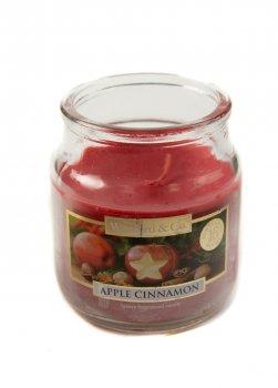 """Аромасвеча в баночці """"Яблуко, кориця"""" Wickford & Co 7х5см Рожевий dec0000900"""