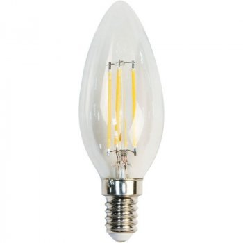 "Лампа світлодіодна C35 4W E14 4LED 4500K 230V свічка ""LEMANSO"" LM392"