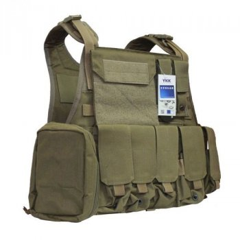 Бронежилет Flyye Molle Style PC Plate Carrier with Pouch Set Khaki (S) (FY-VT-M003-KH)