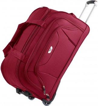 Дорожная сумка на колесах Wings 1055 Большая Бордовая (Ws00007)