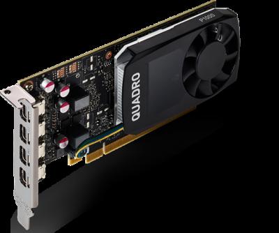 PNY PCI-Ex NVIDIA Quadro P1000 4GB GDDR5 (128bit) (1265/5001) (4 x miniDisplayPort) (VCQP1000-SB)