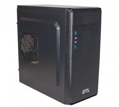 #177221 - Корпус GTL 1609 Black, 400W, USB3.0, 120mm, Micro ATX / Mini ITX, 2 x 3.5 mm, USB3.0 x 2, ODD x 1, HDD x 3, SSD x 1, 0.4 mm, 350x315x165,