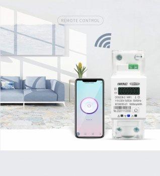 Розумний WiFi лічильник Niking Tomzn ватметр змінного струму на DIN-рейку c WI-FI (DDS238-2 WiFi)