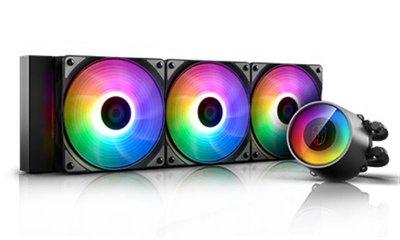 Система водяного охлаждения Deepcool Castle 360 RGB V2, Intel: LGA2066/2011-v3/2011/1151/1150/1155/LGA1366, AMD: TR4/AM4/AM3+/AM3/AM2+/AM2/FM2+/FM2/FM1, 402x120x27 мм, 4-pin