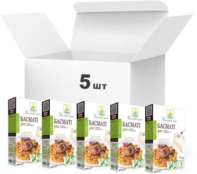 Упаковка риса Терра Басмати быстрого приготовления в варочном пакете 400 г х 5 шт (4820015737212)