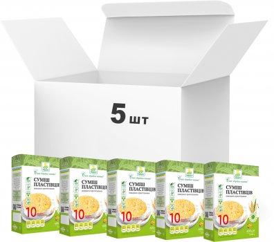 Упаковка хлопьевой смеси Терра 10 видов зерновых быстрого приготовления 600 г х 5 шт (4820015737410)